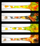 Autumn discount sale banner poster abstract flyer Stock Photo