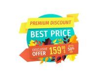 Autumn Discount superior con el mejor emblema del precio libre illustration