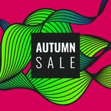 Autumn discounts, bright background Royalty Free Stock Photo