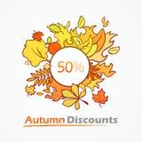 Autumn Discounts - vente saisonnière illustration libre de droits