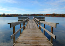 Autumn Dock. Autumn fishing dock royalty free stock images
