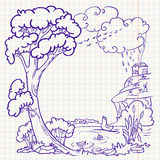 Autumn doodle Royalty Free Stock Image