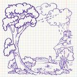 Autumn doodle. Frame, illustration Royalty Free Illustration