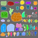 Autumn doodle weather collection Royalty Free Stock Photos