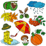 Autumn doodles Royalty Free Stock Photo
