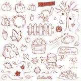 Autumn Doodles royalty free illustration