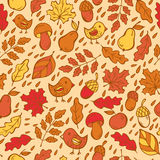 Autumn doodles pattern Stock Photography