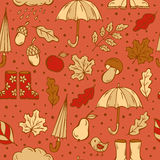 Autumn doodles pattern Royalty Free Stock Photos