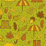 Autumn doodles pattern Royalty Free Stock Photo