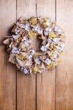 Autumn door wreath. Home decor royalty free stock images