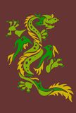 Autumn dragon. On brown beckground Royalty Free Stock Photography