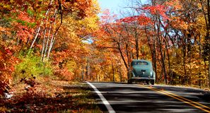 Autumn drive royalty free stock image