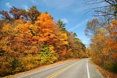 Autumn Drive. Fall colors tour in Western Michigan Royalty Free Stock Images