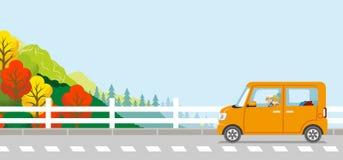 Autumn Drive, par mayor, anonimato ilustración del vector