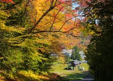 Autumn drive in Vermont Royalty Free Stock Photography