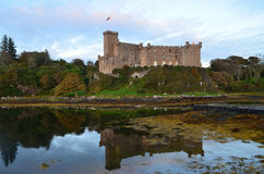 Autumn at Dunvegan Castle and Loch Dunvegan royalty free stock photography