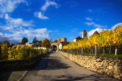 Autumn Durnstein. Beautiful autumn landscape of Durnstein, Austria royalty free stock images