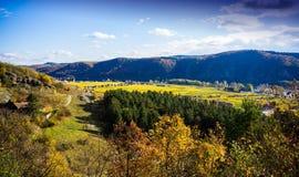Autumn Durnstein. Beautiful autumn landscape of Durnstein, Austria stock images