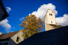 Autumn Durnstein. Beautiful autumn landscape of Durnstein, Austria royalty free stock photo