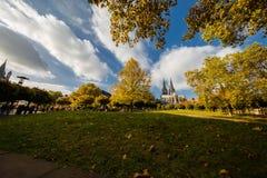 Autumn in Dusseldorf royalty free stock image