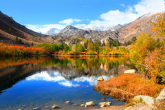 Autumn in eastern Sierra mountains Royalty Free Stock Photo