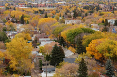 Autumn edmonton. Autumn view of the city edmonton, alberta, canada stock images