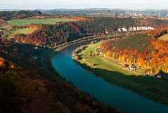 Autumn in Elbe Valley Stock Photo
