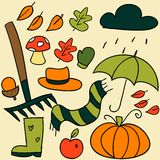 Autumn elements. Colorful Autumn elements, vector illustration Royalty Free Stock Image