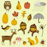 Autumn Elements Set Fotografía de archivo libre de regalías