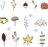 Autumn Elements Set Image libre de droits