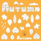 Autumn elements set Stock Photo