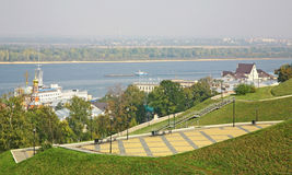 Autumn embankment in Nizhny Novgorod Royalty Free Stock Photography