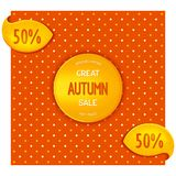 Autumn emblem and design elements Royalty Free Stock Image