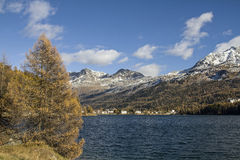 Autumn in Engadine Stock Photography