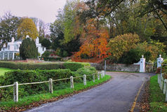 Autumn in an English rural Lane Stock Image