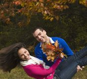 Autumn enjoyment Royalty Free Stock Image