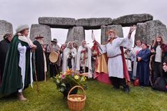 Autumn Equninox Celebrations in Stonehenge royalty-vrije stock fotografie