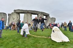 Autumn Equninox Celebrations in Stonehenge royalty-vrije stock foto
