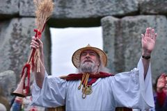 Autumn Equninox Celebrations at Stonehenge Stock Photos