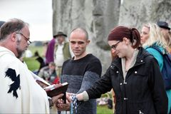 Autumn Equninox Celebrations at Stonehenge Royalty Free Stock Images
