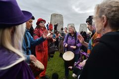 Autumn Equninox Celebrations at Stonehenge Royalty Free Stock Image