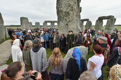 Autumn Equninox Celebrations at Stonehenge Royalty Free Stock Photography