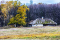 Autumn in ethnic museum Pirogovo Stock Photo