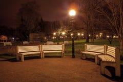 Autumn evening in a city park Kadriorg, Tallinn Royalty Free Stock Photos