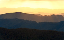Autumn evening mountain landscape Stock Photography