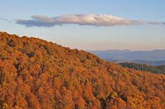 Autumn evening in mountains. Royalty Free Stock Photography