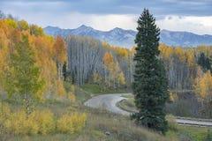 Autumn Evening na passagem de Kebler fotos de stock royalty free