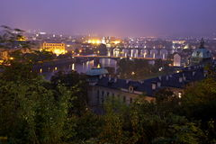 Autumn evening in Prague. View from Letna Royalty Free Stock Photo