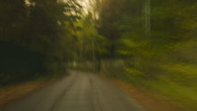 Autumn evening rural road motion time lapse stock video