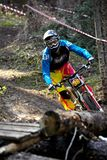 Autumn extreme mountain bile competition Stock Image